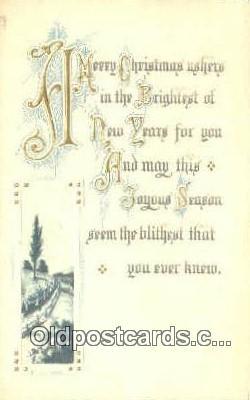 hol050417 - Christmas Postcard, Post Card Old Vintage Antique Carte, Postal Postal