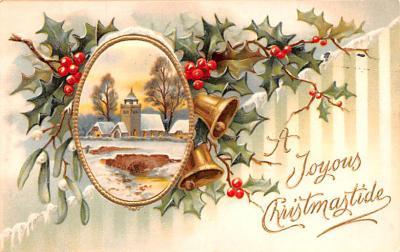 hol051015 - Christmas Postcard Old Vintage Antique Post Card