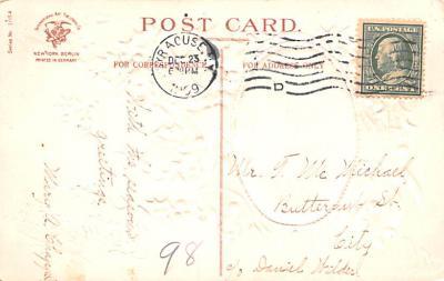 hol051015 - Christmas Postcard Old Vintage Antique Post Card  back