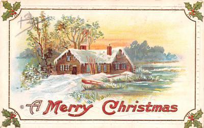 hol051151 - Christmas Postcard Old Vintage Antique Post Card