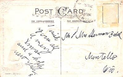 hol051151 - Christmas Postcard Old Vintage Antique Post Card  back