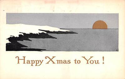 hol051869 - Christmas Postcard Old Vintage Antique Post Card
