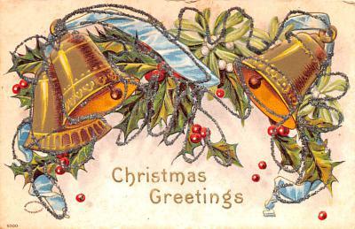 hol051899 - Christmas Postcard Old Vintage Antique Post Card