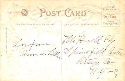 hol051899 - Christmas Postcard Old Vintage Antique Post Card  back