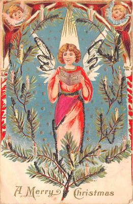 hol051905 - Christmas Postcard Old Vintage Antique Post Card