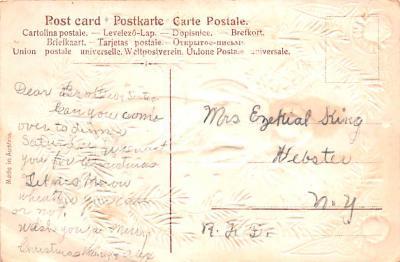 hol051905 - Christmas Postcard Old Vintage Antique Post Card  back