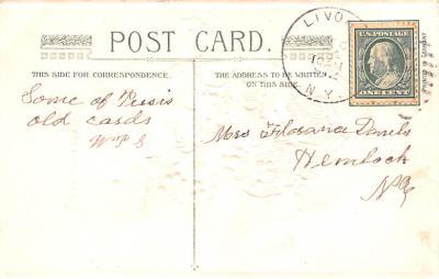 hol051917 - Christmas Postcard Old Vintage Antique Post Card  back