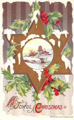 hol051951 - Christmas Postcard Old Vintage Antique Post Card