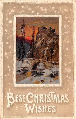 hol051975 - Christmas Postcard Old Vintage Antique Post Card