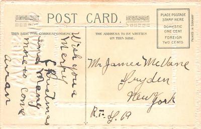 hol051975 - Christmas Postcard Old Vintage Antique Post Card  back