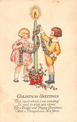hol052061 - Christmas Postcard Old Vintage Antique Post Card