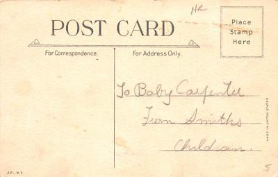 hol052061 - Christmas Postcard Old Vintage Antique Post Card  back