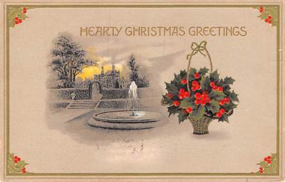 hol052121 - Christmas Postcard Old Vintage Antique Post Card