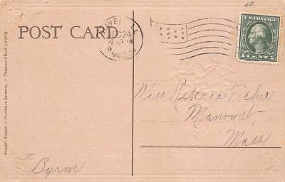 hol052121 - Christmas Postcard Old Vintage Antique Post Card  back