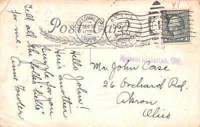 hol052169 - Christmas Postcard Old Vintage Antique Post Card  back