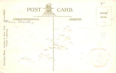 hol052191 - Christmas Postcard Old Vintage Antique Post Card  back