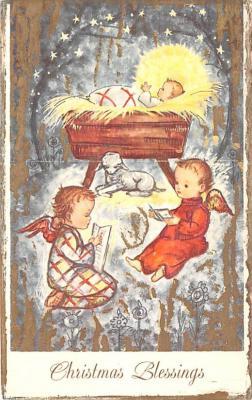 hol052213 - Christmas Postcard Old Vintage Antique Post Card