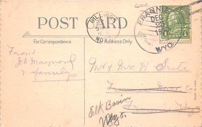 hol052233 - Christmas Postcard Old Vintage Antique Post Card  back