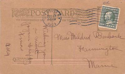 hol052251 - Christmas Postcard Old Vintage Antique Post Card  back