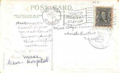 hol052267 - Christmas Postcard Old Vintage Antique Post Card  back