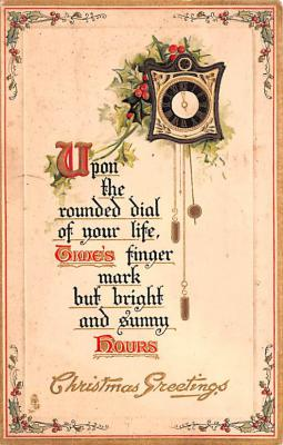 hol052469 - Christmas Postcard Old Vintage Antique Post Card