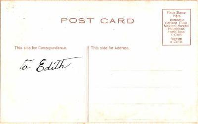 hol052491 - Christmas Postcard Old Vintage Antique Post Card  back