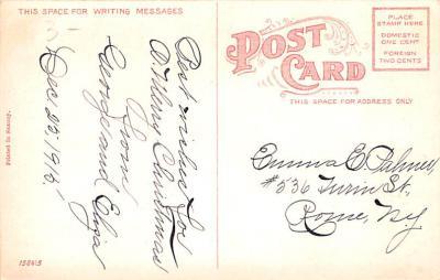 hol052499 - Christmas Postcard Old Vintage Antique Post Card  back