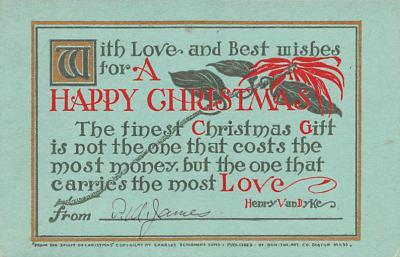 hol052525 - Christmas Postcard Old Vintage Antique Post Card