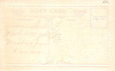 hol052531 - Christmas Postcard Old Vintage Antique Post Card  back