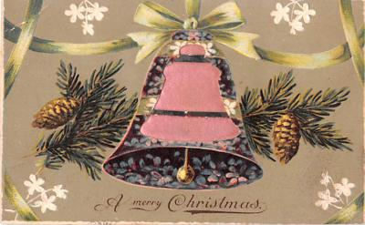 hol052579 - Christmas Postcard Old Vintage Antique Post Card
