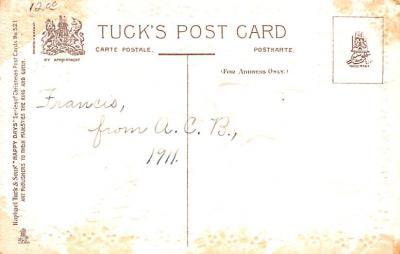hol052607 - Christmas Postcard Old Vintage Antique Post Card  back