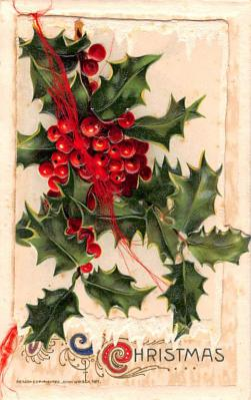 hol052615 - Christmas Postcard Old Vintage Antique Post Card