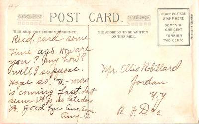 hol052615 - Christmas Postcard Old Vintage Antique Post Card  back