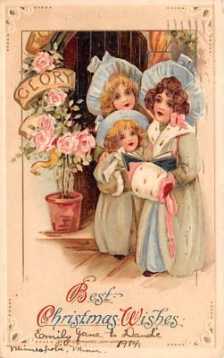 hol052621 - Christmas Postcard Old Vintage Antique Post Card