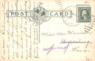 hol052637 - Christmas Postcard Old Vintage Antique Post Card  back