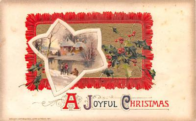 hol052653 - Christmas Postcard Old Vintage Antique Post Card