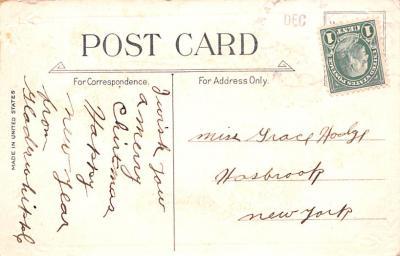 hol052657 - Christmas Postcard Old Vintage Antique Post Card  back