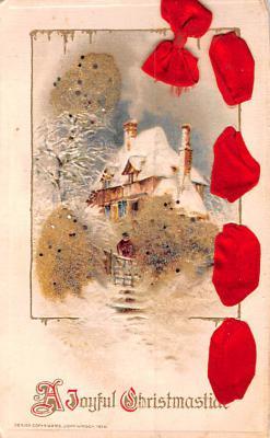 hol052675 - Christmas Postcard Old Vintage Antique Post Card