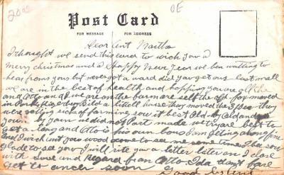hol052675 - Christmas Postcard Old Vintage Antique Post Card  back
