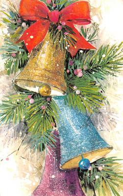 hol052683 - Christmas Postcard Old Vintage Antique Post Card