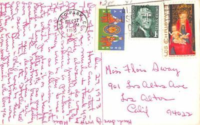 hol052683 - Christmas Postcard Old Vintage Antique Post Card  back