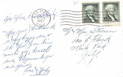 hol052687 - Christmas Postcard Old Vintage Antique Post Card  back