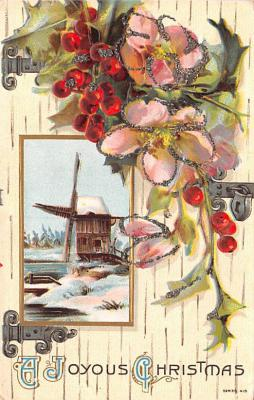 hol052699 - Christmas Postcard Old Vintage Antique Post Card