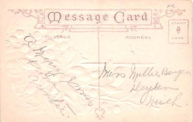hol052699 - Christmas Postcard Old Vintage Antique Post Card  back
