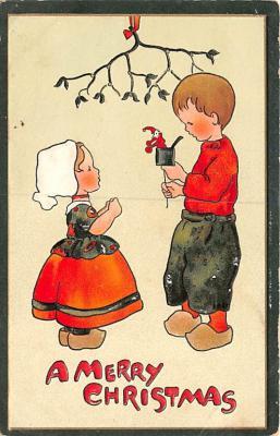 hol052713 - Christmas Postcard Old Vintage Antique Post Card