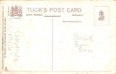hol052713 - Christmas Postcard Old Vintage Antique Post Card  back