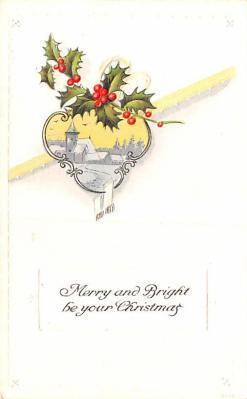 hol052789 - Christmas Postcard Old Vintage Antique Post Card