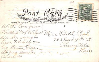 hol052805 - Christmas Postcard Old Vintage Antique Post Card  back