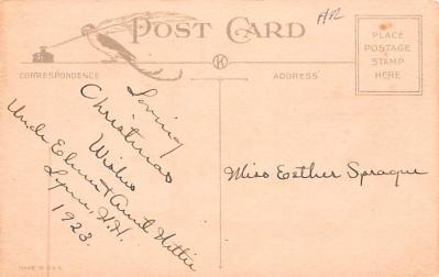 hol052837 - Christmas Postcard Old Vintage Antique Post Card  back