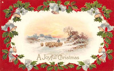 hol052849 - Christmas Postcard Old Vintage Antique Post Card